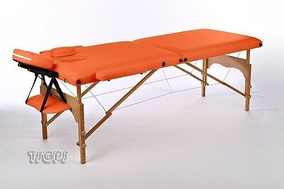 Reiki Massage Table Kingpower 2 Zones incl. Bag and Accessories orange