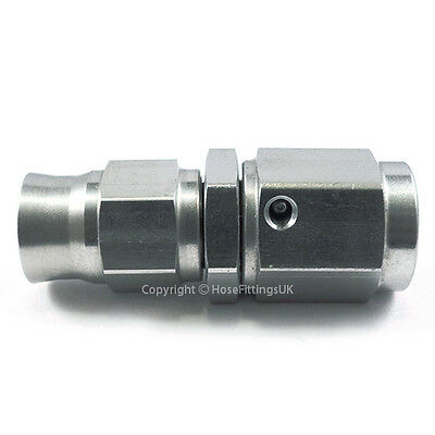 M10x1.0 Straight STAINLESS STEEL to AN3 PTFE Custom Brake Hose Fitting