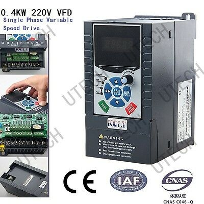 220V 0.4Kw Variable Frequency Drive Inverter Vfd 0.4Kw 2.3A Vsd Single Phase