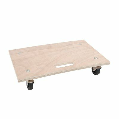 150KG Dolly Cart Trolley Wooden Wheeled Moving Platform  with 4 Castors  Barrow