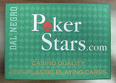 Poker Stars 2 Deck Set-up 100% Plastic Playing Cards Made in Italy NEW *