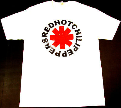 Red Hot Chili Peppers Hommes S M L XL tee t shirt vintage pour homme Rock band LOGO NEW