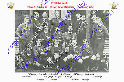 WALES 1896 (v England) INTERNATIONAL RUGBY TEAM PHOTOGRAPH