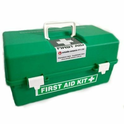 First Aid Kit Large Tackle Box EMPTY GREEN WORK PLACE CHEMICAL FREE