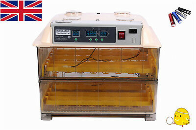 Automatic Egg Incubator 96 Chicken  Incubator Poultry Harcher Duck Bird +Candler