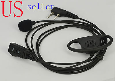 D-Shape Earpiece//Headset Boom Mic VOX For Kenwood Radio NX220 NX320 TH-28A 208