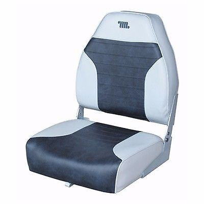 """Wise WD588PLS-664 Deluxe 2 Tone Hi-Back Fold Down Seat 21-1/4"""" H Boat Marine MD"""