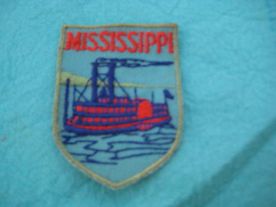 "Vintage State Of Mississippi sew on Patch 2"" X 2 3/4 """