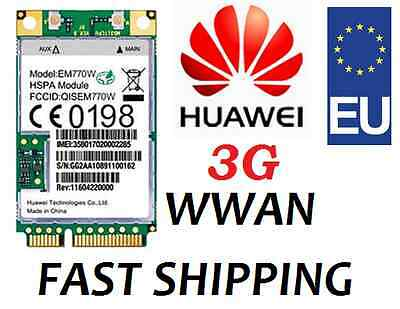 3G Modem WIRELESS WWAN HSPA UMTS EDGE mini PCI Card 7.2Mbps Huawei EM770W