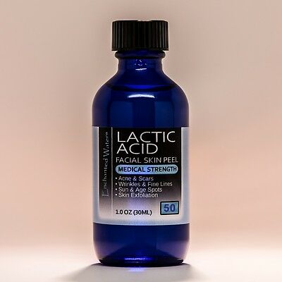 LACTIC Acid Skin Peel - 50% - For: Acne, Wrinkles, Melasma, Collagen Stimulation