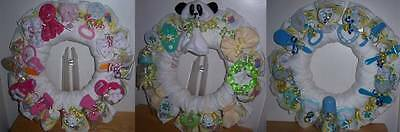 Baby Shower Bear Diaper Wreath