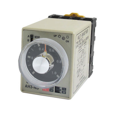 Dual Modes 8P 0-1M 0-10H 1M 10Hours Delay Timing Relay AH3-ND 220VAC w Base