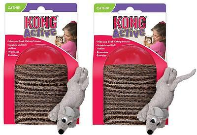 2 x Kong Cat Scamper Cat Kitten Toy Play Time Fill With Catnip Interactive