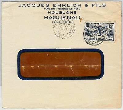 SPORT SKIING  -  POSTAL HISTORY - FRANCE: Stamp on cover 1937