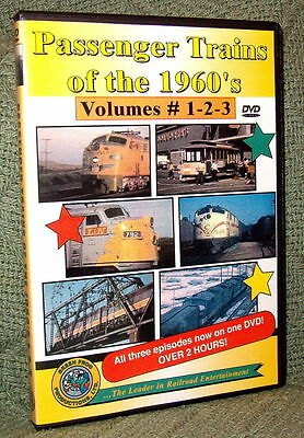 """20063 Train Video Dvd """"passenger Trains Of The 1960's"""" Nh,l&n,southern,seaboard"""