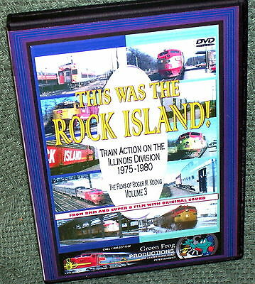 """20135 Train Video Dvd """"this Was The Rock Island"""" 1975-1980"""