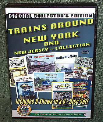 "20237 Train Video Dvd Box Set ""Trains Around New York, New Jersey"""
