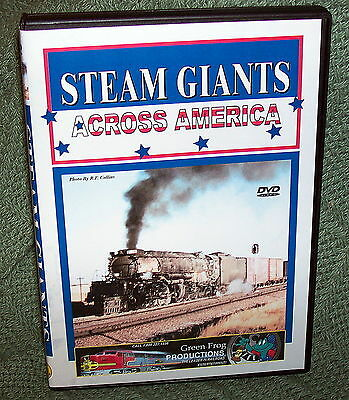 "cp008 TRAIN VIDEO DVD ""STEAM GIANTS"" UNION PACIFIC/ N&W BIG BOY, CHALLENGER"
