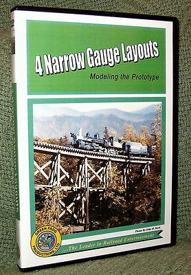 "cp042 MODEL RAILROAD VIDEO DVD "" (4) NARROW GAUGE LAYOUTS"" VIDEO TOUR"