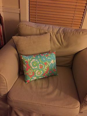 Popular Style Throw Pillows Made In Lily Pulitzer Fabric
