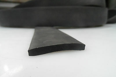 Weather Strip EPDM Black Sponge Rubber , 50mm x 6mm section, by the meter