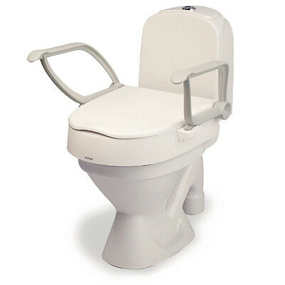 Etac Cloo Toilet Seat Raiser with Foldable Arm Rests - Bathroom Safety Aid