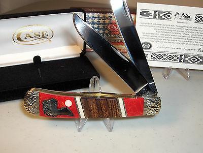 "CASE KNIFE - CUSTOM YELLOWHORSE TRAPPER - 4 1/8"" Closed length"
