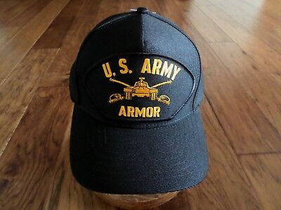 U.s Army Armor Hat U.s Military Official Ball Cap U.s.a Made Armored Division