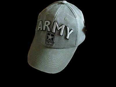 U.s Military Army 3-D Logo Hat Embroidered Ball Cap Raised Letters Stone  Washed ee14f4885108