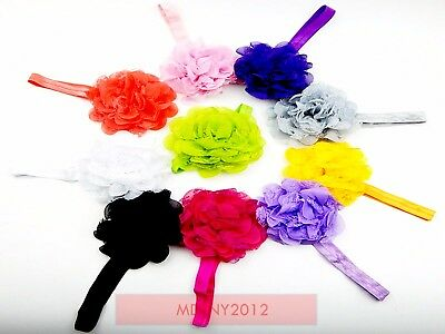 10pcs Lace Flower Kids Baby Girl Toddler Headband Hair Band Headwear Accessories