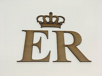 Royal Princess Crown & letters E R - Decorate your own Wedding Post Box
