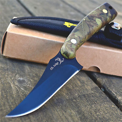 "7"" ELK RIDGE Hunting Skinning FIXED BLADE KNIFE Survival Full Tang Camping"