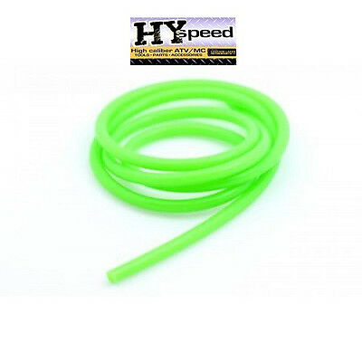 """HYspeed PVC Fuel Gas Line 5/16"""" ID X 7/16"""" OD 3' Fluorescent Green Motorcycle"""