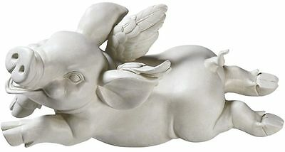 When Pigs Fly Winged Farm & Countryside Young Pig Flying Animal  Statue