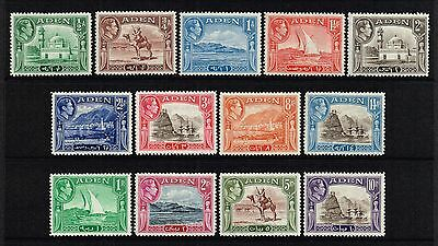 Aden 1939-48 King George VI set to 10r., MH (SG#16/27)