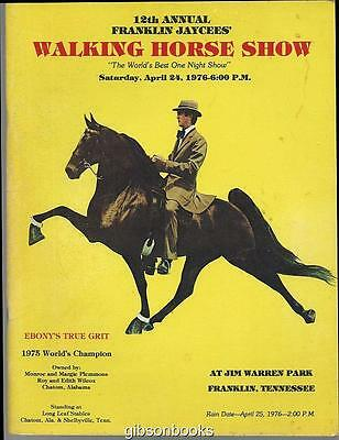 Official Program 12th Annual Franklin Jaycees' Walking Horse Show, April 1976