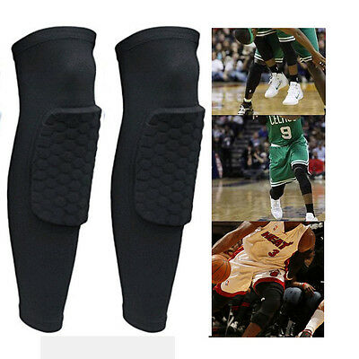 A pair Knee Pad Honeycomb Crashproof BasketBall Protective Gear Long Leg Sleeves