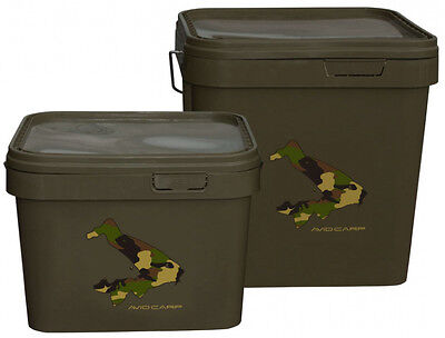 Brand New Avid Carp Square Buckets - All Sizes Available