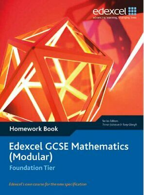 Edexcel GCSE Maths: Modular Foundation Homework book by Tanner, Kevin Paperback