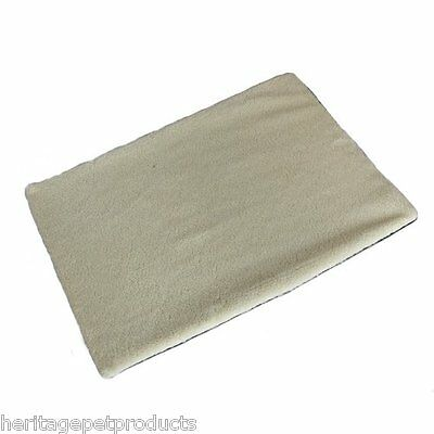 Heritage Warm Fleece Cushion/Bed Dog/Cat/Puppy/Kitten Cage/Crate Mat Liner Pad