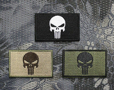Aufnäher Patch Klett Punisher Tactical Tac Prepper EDC Bushcraft Airsoft SHTF