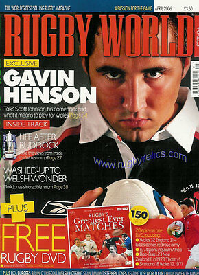 RUGBY WORLD MAGAZINE April 2006 Scotland v England, Ireland v Wales