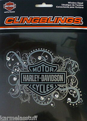 Harley-Davidson Cling blings Bling Window Sticker Decal NEW
