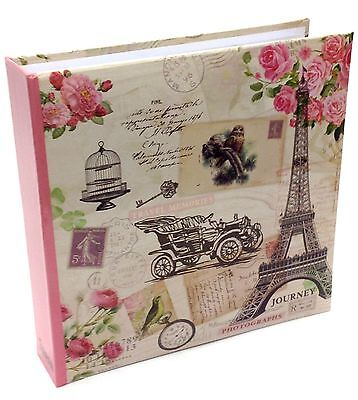 Large Travel Memories 200 Holds Slip In Memo Area Photo Album 4' x 6'   -FL200