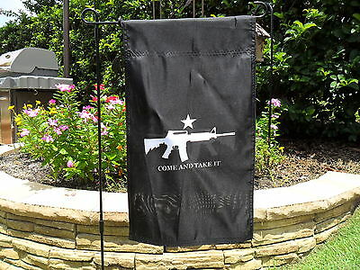 """12""""x18"""" """"come And Take It"""" Double Sided Gun Rights Garden Banner Black"""