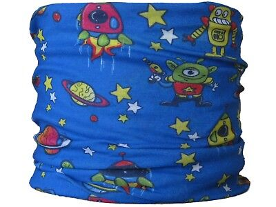 CHILD SIZE Gaiter,boy Space Aliens neck tube mask skiing snood scarf base layer