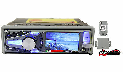 "Dual AM615BT Marine/Boat CD Stereo Receiver With 3"" LCD/Bluetooth/iPhone/Pandora"