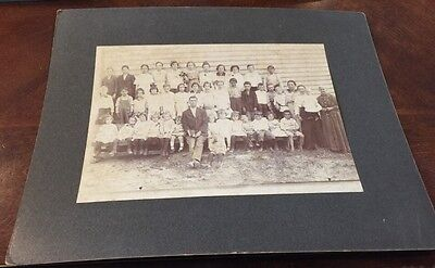 Cabinet Card School Photo Of Old Gold School, Caswell Goodner; Cleveland TN