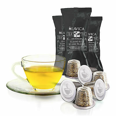 150 RELAXING BLEND Single Serve Nespresso Compatible tea Capsules Pods