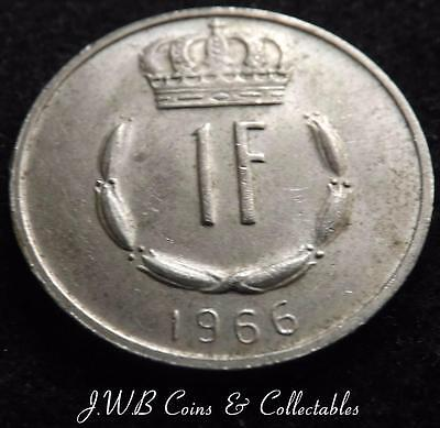 1966 Luxembourg 1 One Franc Coin